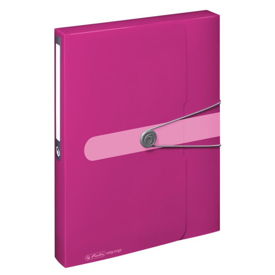 Kummiga kaaned A4 pl. Easy Orga 4cm roosa