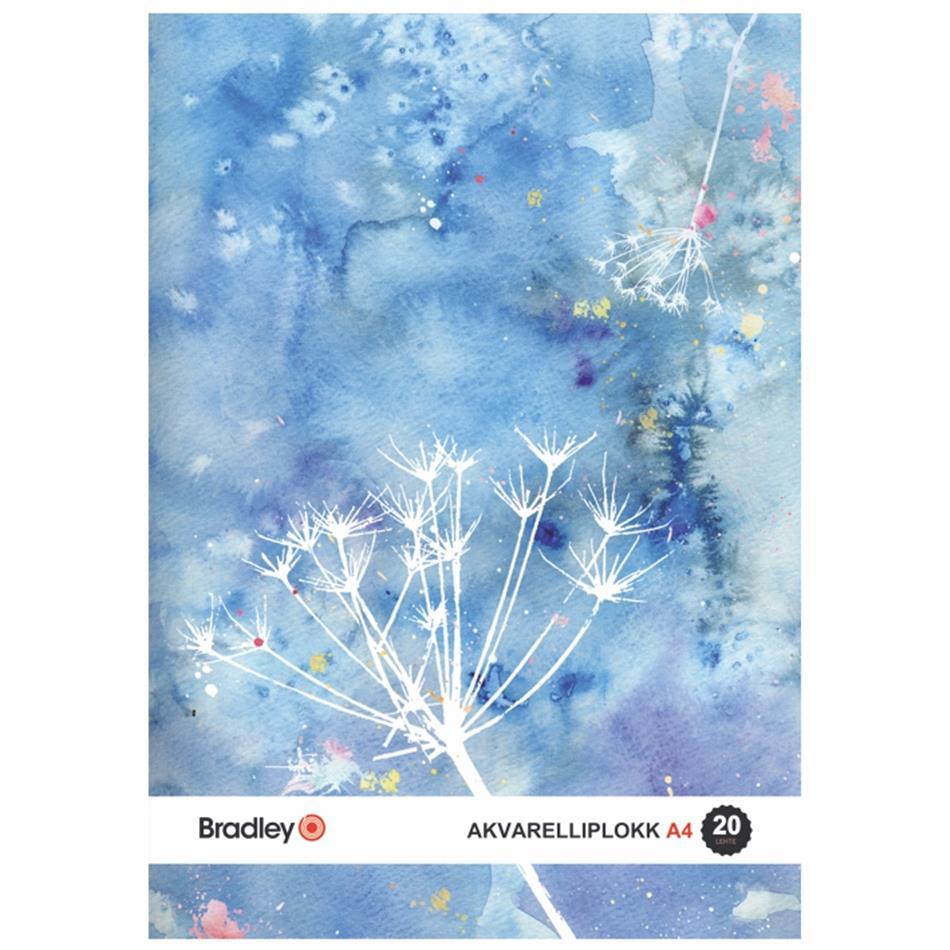 Joonistusplokk A4, 20 lehte 210g akvarellile