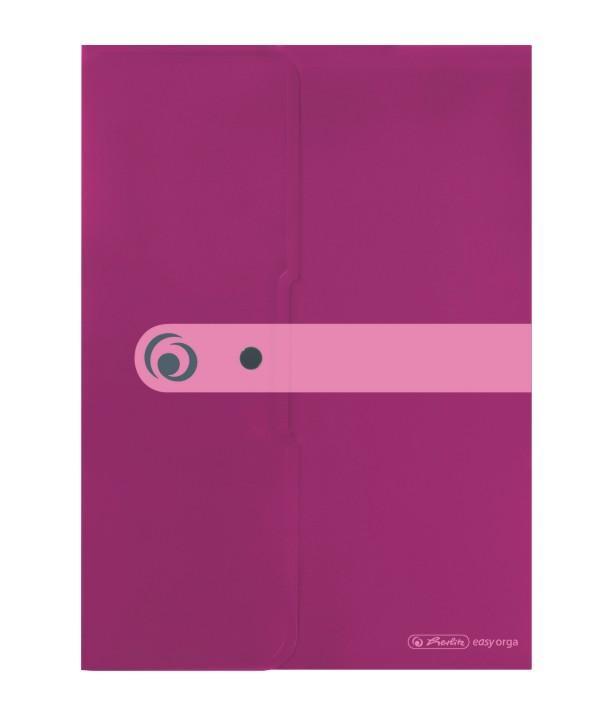 Kirjaümbrik trukiga A4 Easy Orga roosa