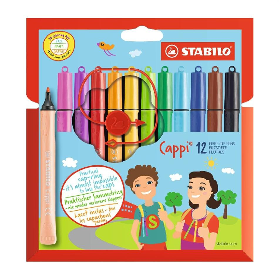 Viltpliiats 12 värvi  Stabilo  Cappi
