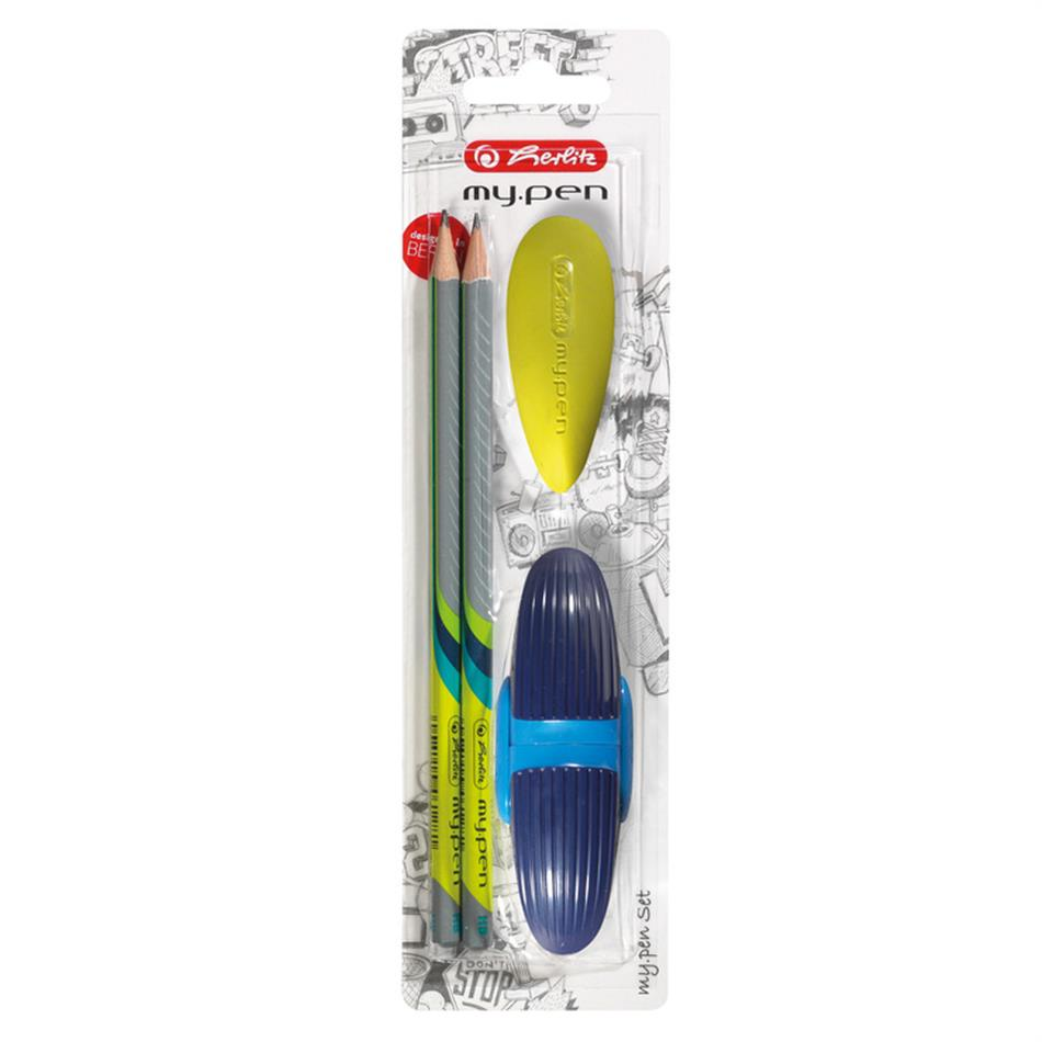 Harilik pliiats 2 tk+kustukas teritaja My.pen