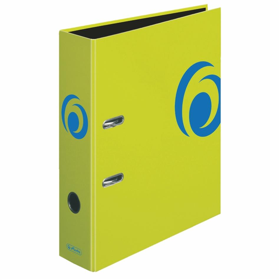 Registraator 8 cm Color Block neoonroheline
