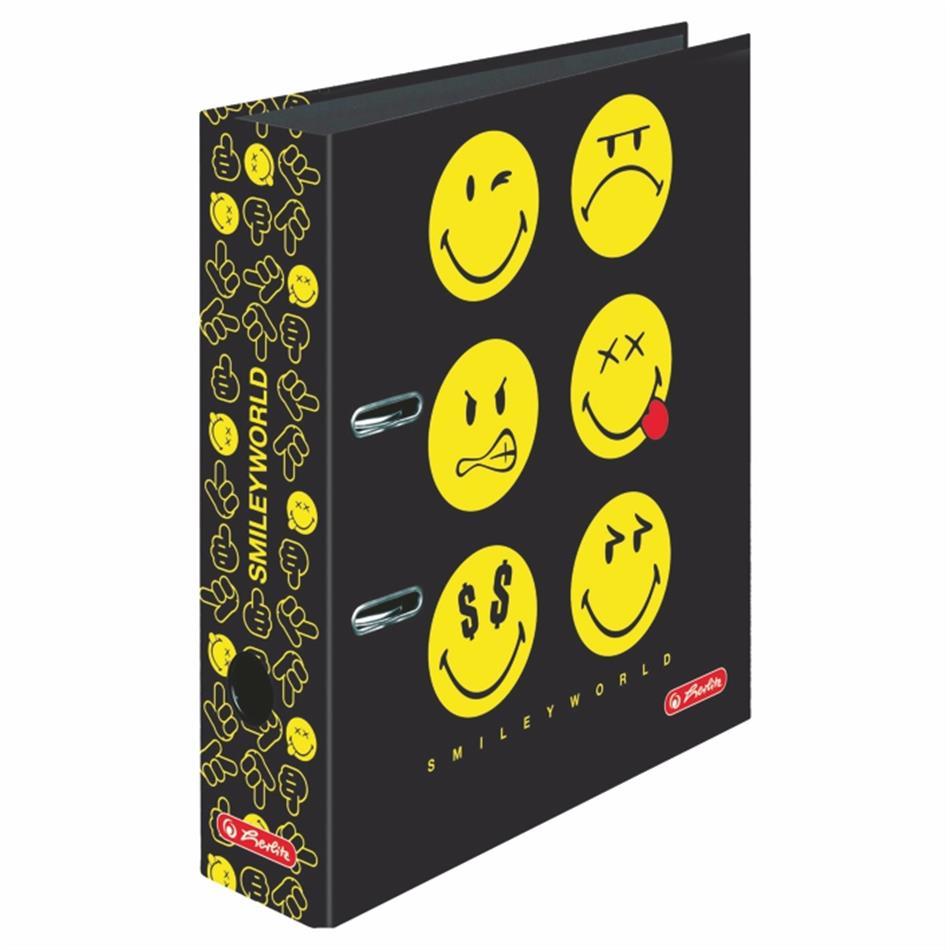 Registraator 8cm Smiley Black