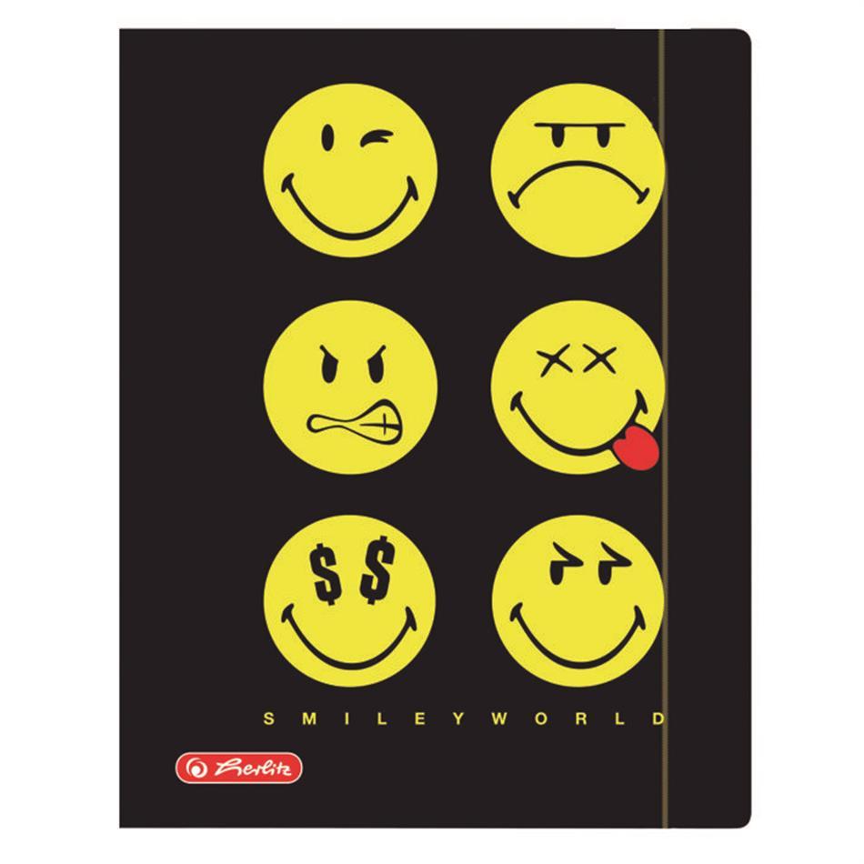 Kummiga kaaned A4 krt. Smiley black