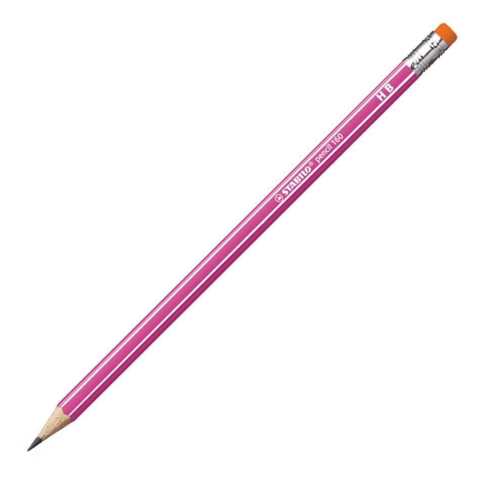 Harilik pliiats Stabilo 160 HB kstkaga roosa krp.