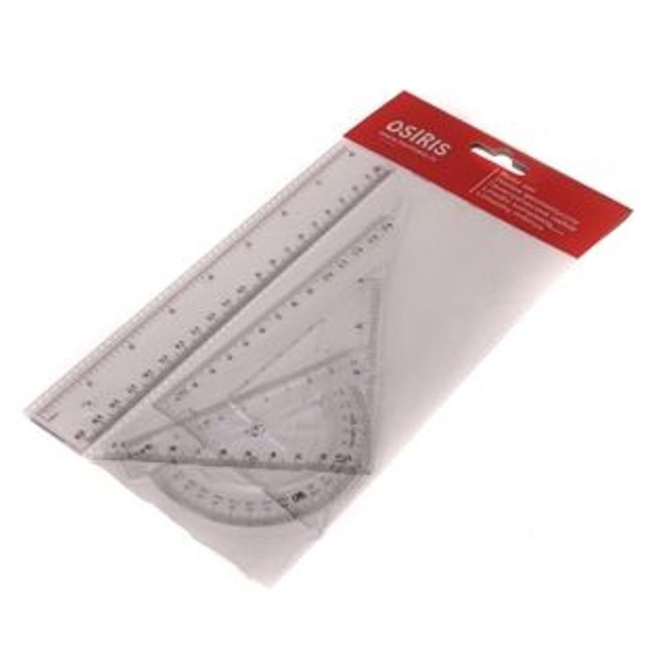 Joonlaudade komplekt: 2 kolmnurka, mall, joonlaud