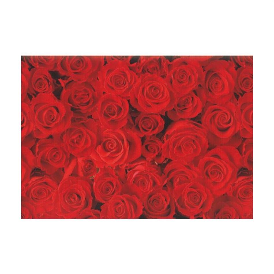 Pakkepaber 2m x 70 cm Red roses