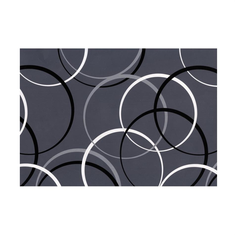 Pakkepaber 2m x 70 cm Circles Grey