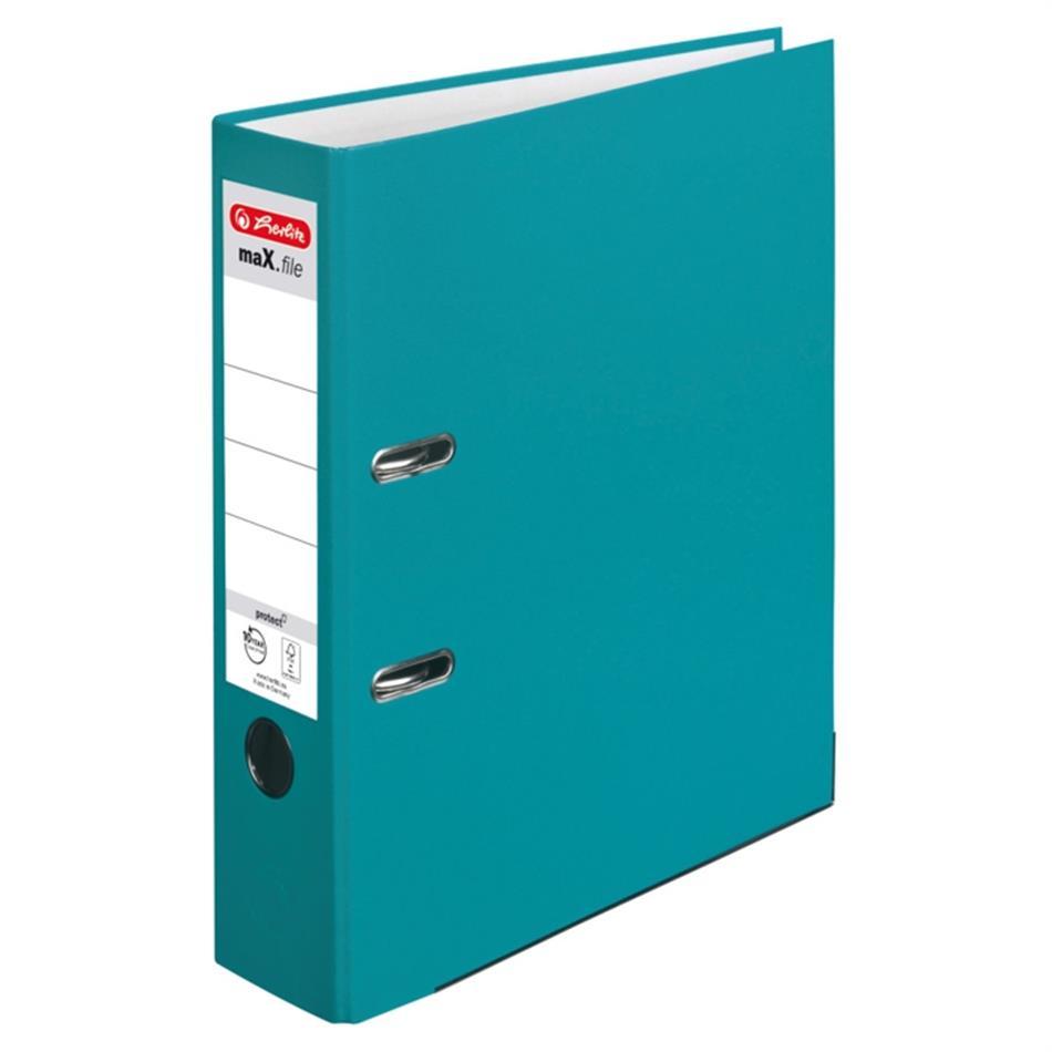 Registraator 8 cm Color Block türkiis