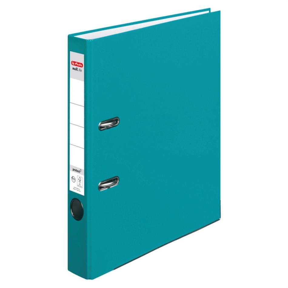 Registraator 5 cm Color Block türkiis