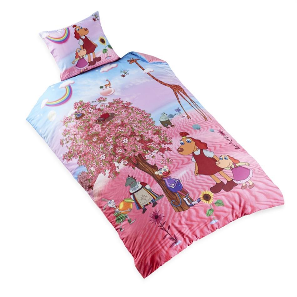 Tekikott 150x210 Lotte roosa kirsipuuga