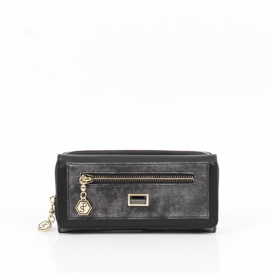 Naiste rahakott lukkudega Silver&Polo 846, plaatin..