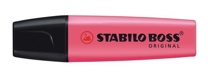 Tekstimarker Stabilo Boss roosa 56, 10 tükki pak..