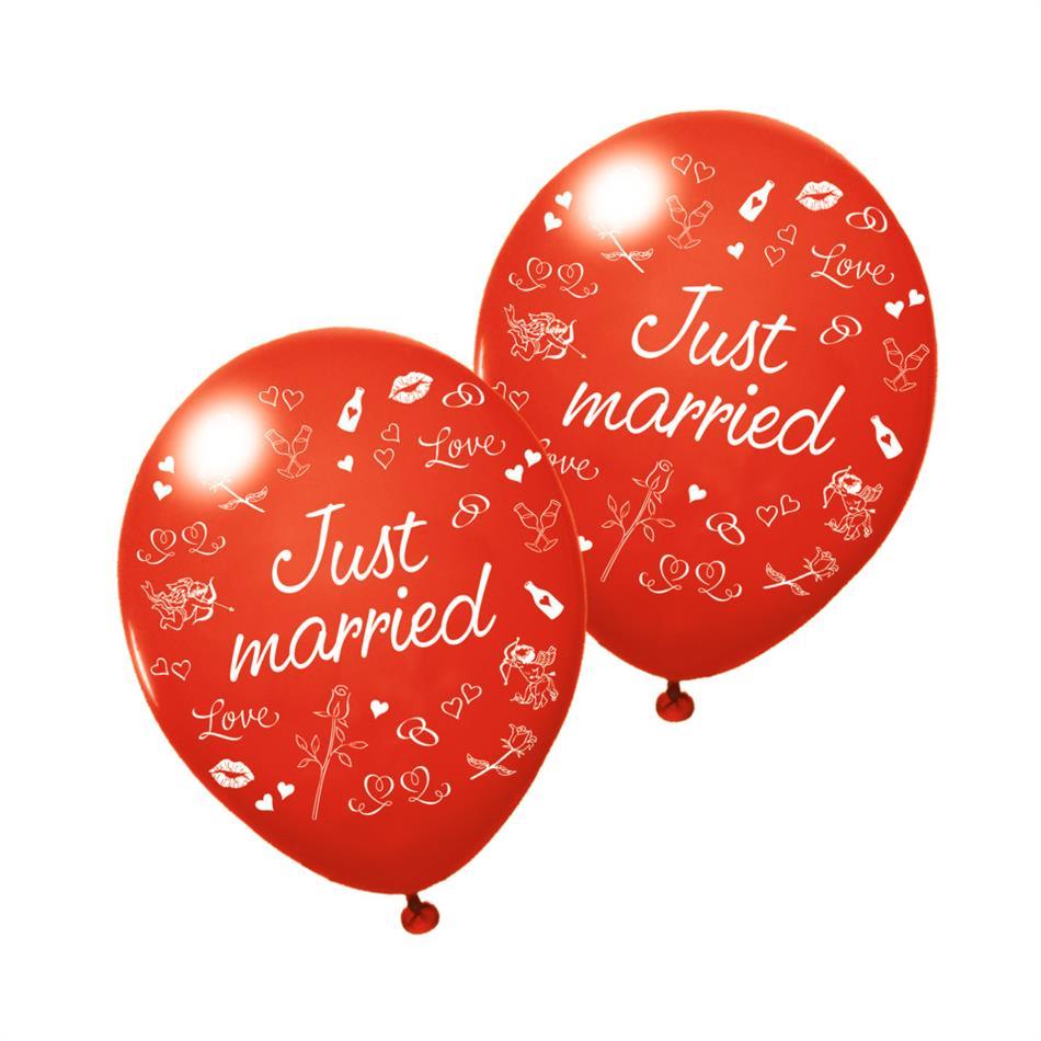 Õhupallid Just Married, 3 tk