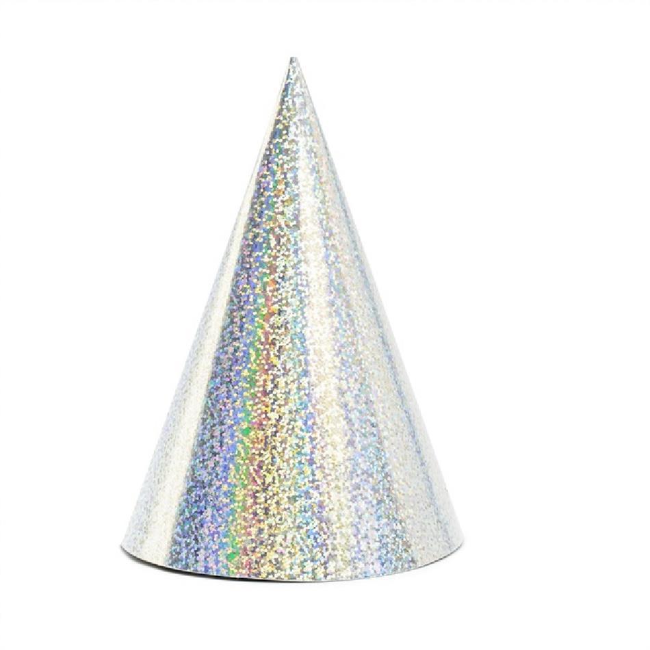 Peomüts - hõbedane, holograafiline, 6 tk