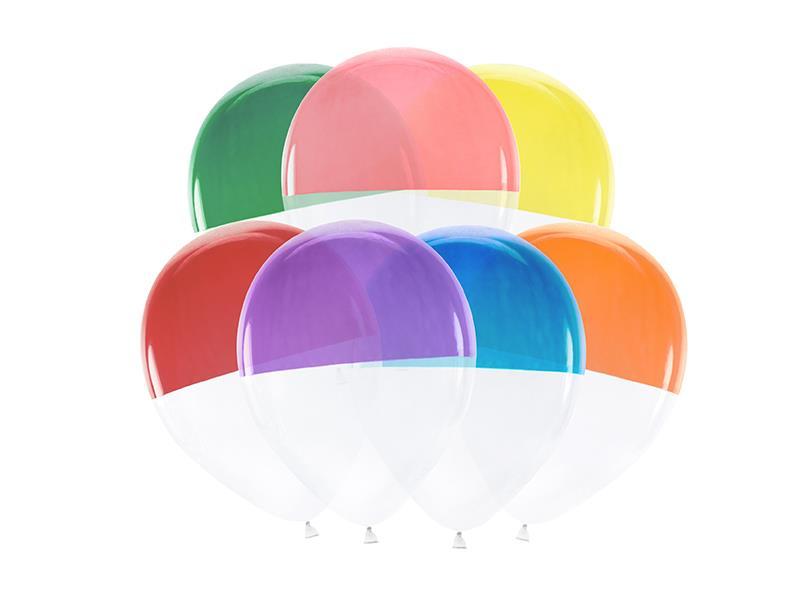 Õhupallid - kahevärvilised, 7 tk, 30 cm