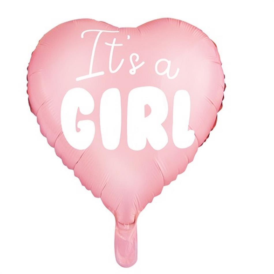 Fooliumist õhupall It's a Girl heleroosa 45cm