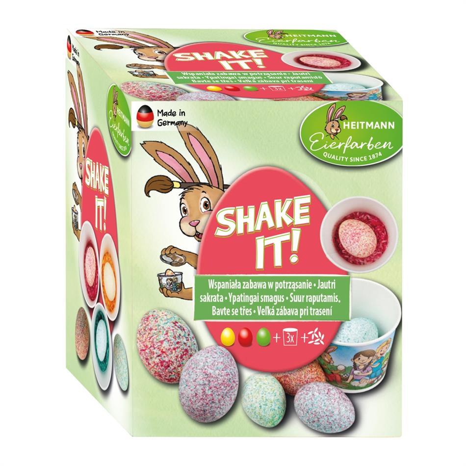 Munavärvid Shake it 3 värvi, topsid ja riisipuru
