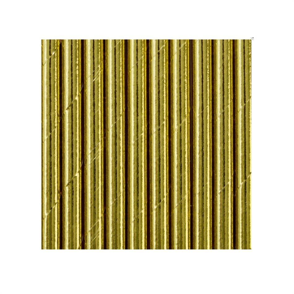 Joogikõrred kartongist 10 tk /19,5cm kuldsed