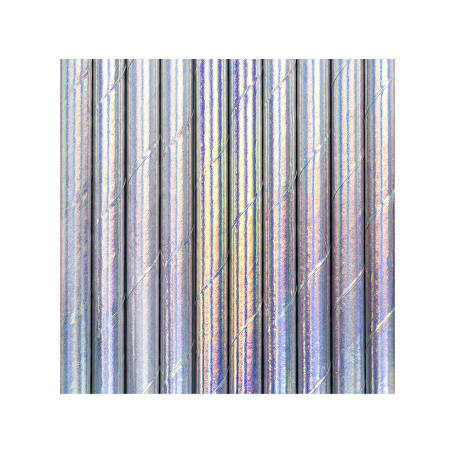 Joogikõrred kartongist 10 tk /19,5cm hõbedased