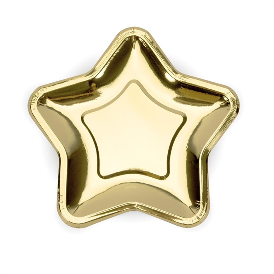 Taldrik kartongist 6 tk / 23cm kuld