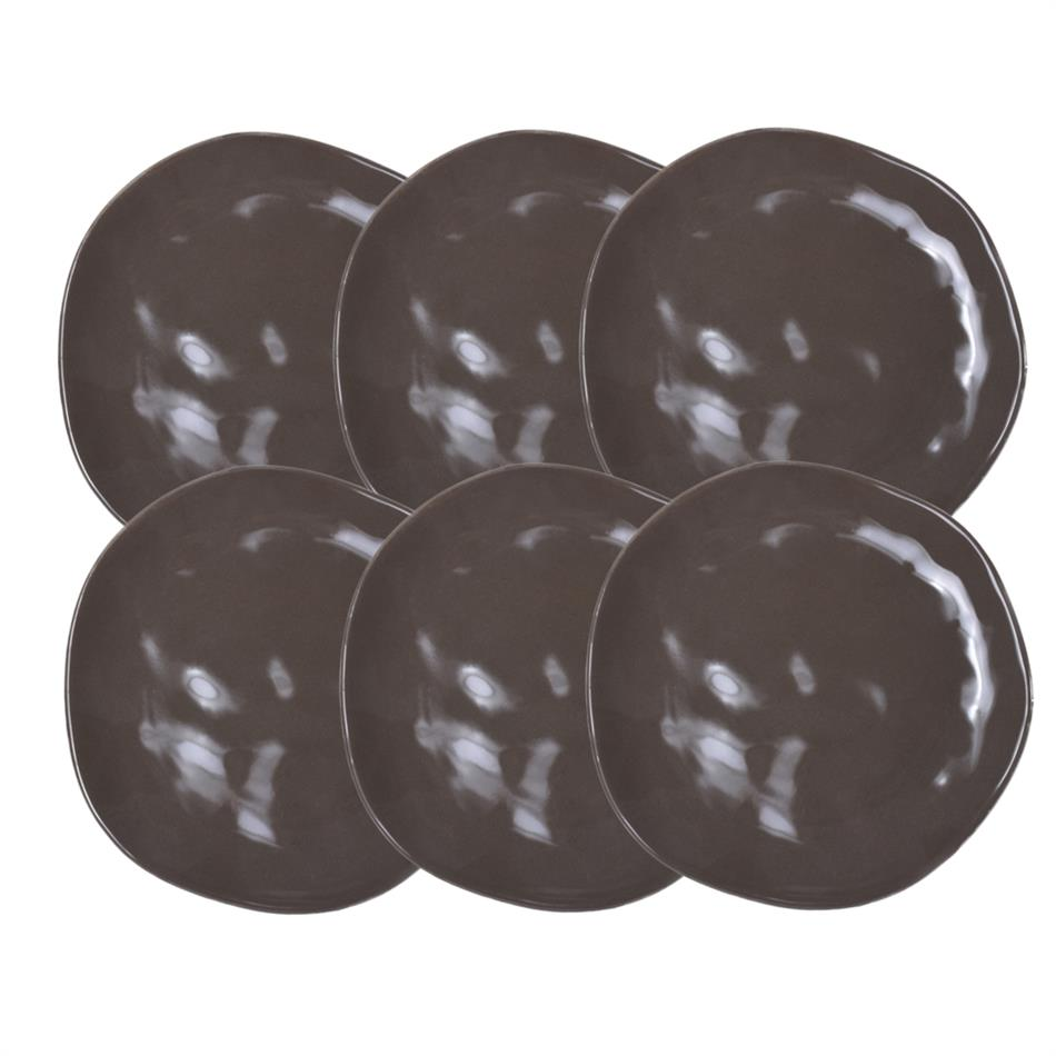 Keraamilised desserditaldrikud ORGANIC 20cm pruun..