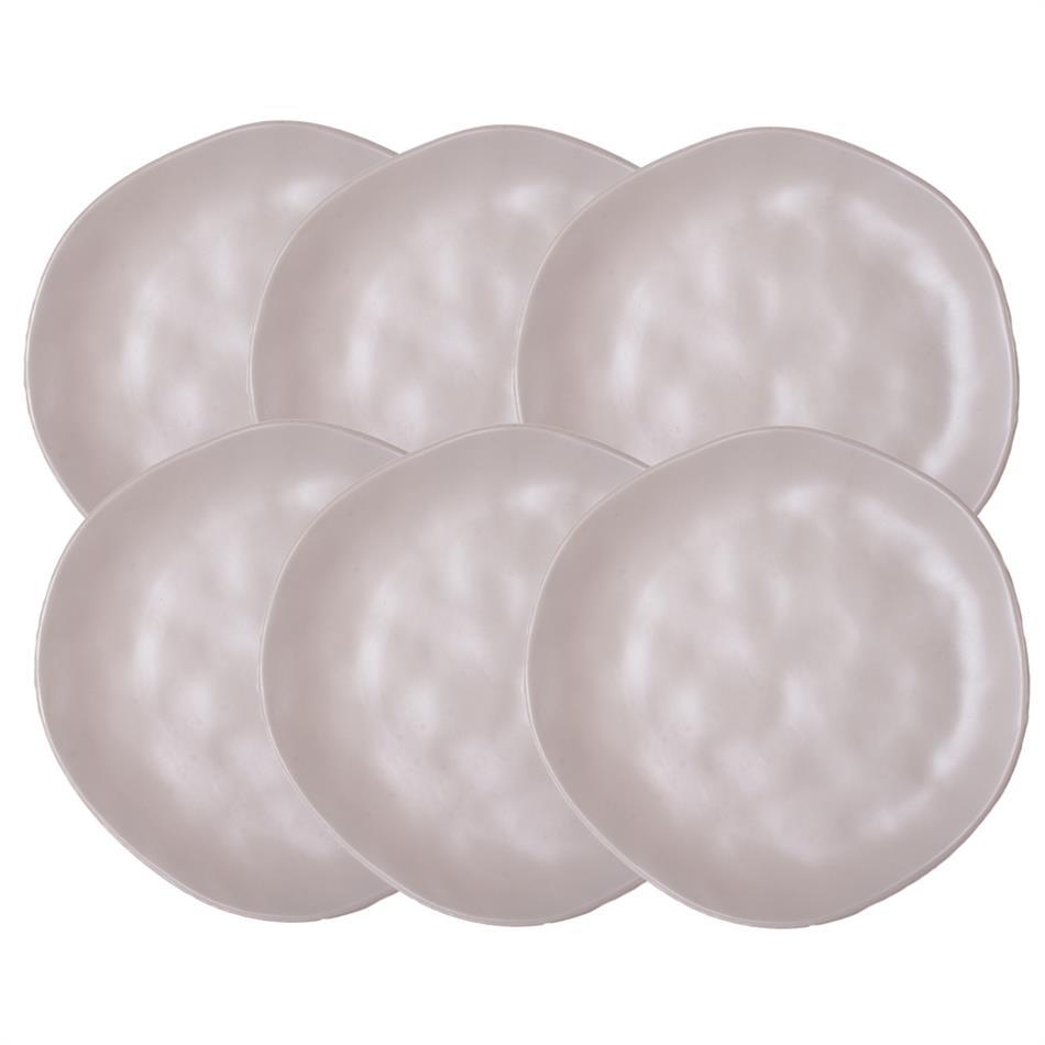 Keraamilised desserditaldrikud ORGANIC 20cm valge..
