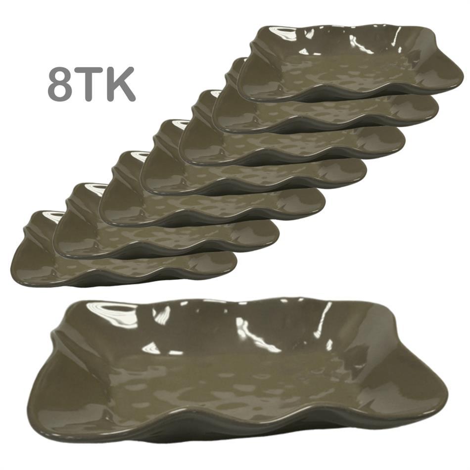 Keraamilised vaagnad ORGANIC 26cm pruun 8 tk