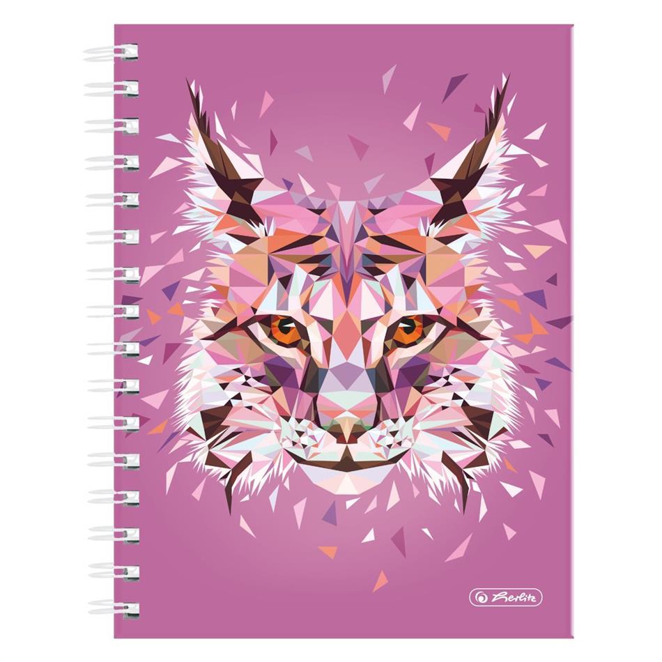 Spiraaliga märkmik A5/100 Wild Animals / Ilves, ..