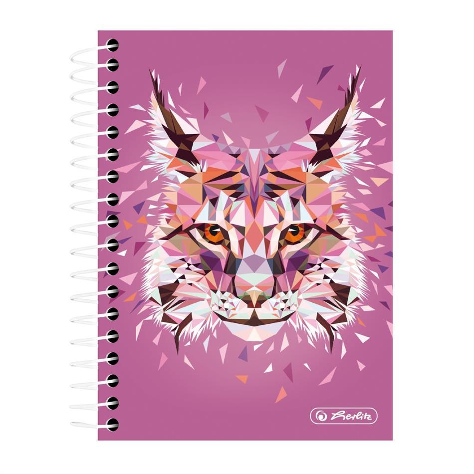 Spiraaliga märkmik A6/200 Wild Animals / Ilves, ..