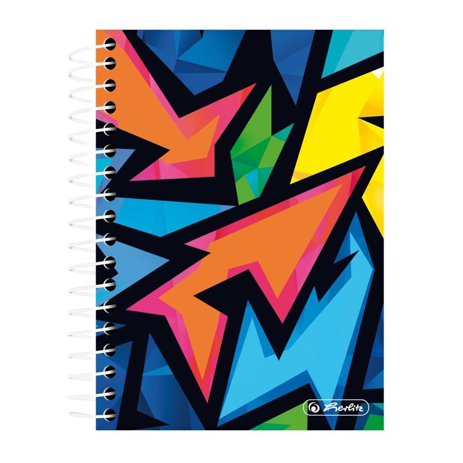 Spiraaliga märkmik A6/200 Neon Art, ruuduline