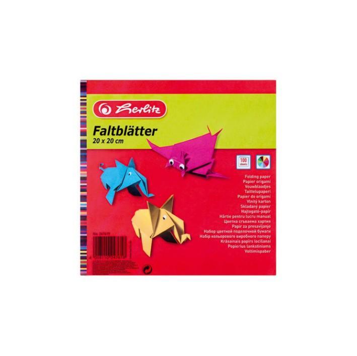 Värviline paber 20x20/100l 60g Herlitz