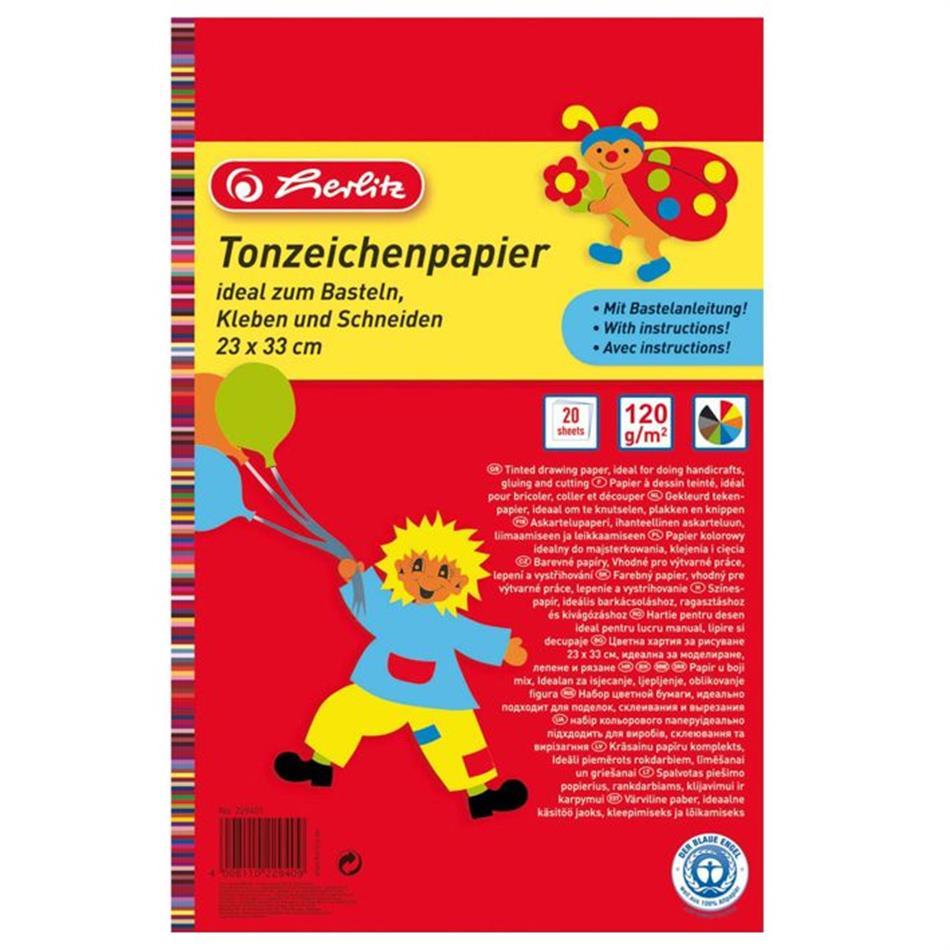 Värviline paber 33x23/20l 120g Herlitz
