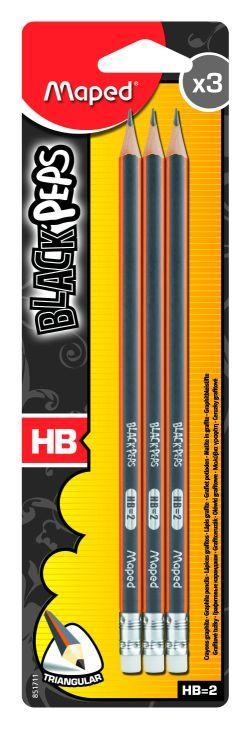 Harilik pliiats kustutuskummiga Maped BlackPeps H..